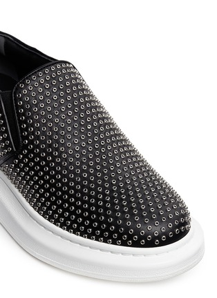 Alexander McQueen - 'Larry' grommet chunky outsole leather sneakers