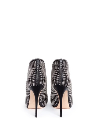 Back View - Click To Enlarge - Alexander McQueen - Zip throat stud leather booties