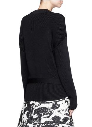 背面 - 点击放大 - NEIL BARRETT - 腰带圆领针织衫