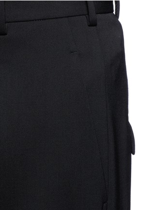 Detail View - Click To Enlarge - Neil Barrett - Virgin wool blend twill slouch fit pants