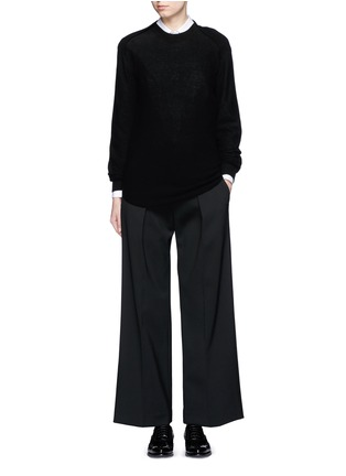 Figure View - Click To Enlarge - Neil Barrett - Virgin wool blend twill slouch fit pants