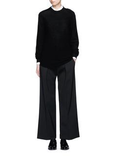 NEIL BARRETTVirgin wool blend twill slouch fit pants
