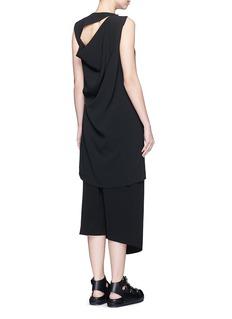 ACNE STUDIOS'Caprice' asymmetric cutout back crepe dress