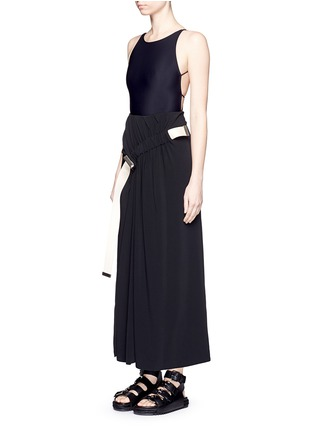 Detail View - Click To Enlarge - Acne Studios - 'Halla' crisscross back one-piece swimsuit