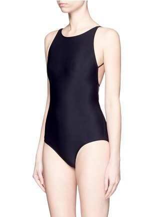Figure View - Click To Enlarge - Acne Studios - 'Halla' crisscross back one-piece swimsuit