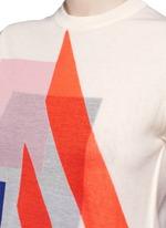 'Basil' geometric intarsia knit T-shirt