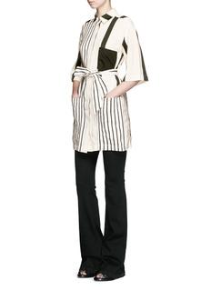 ACNE STUDIOS'Cabell' variegated stripe sash tie dress