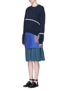 ACNE STUDIOS'Caiola' patchwork linen shirting dress