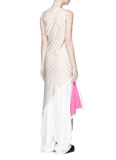 ACNE STUDIOSSlash back frayed cotton-linen asymmetric dress