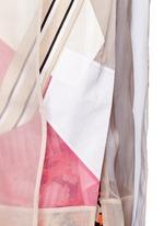 'Gladis' Cubist effect patchwork organza tabard top