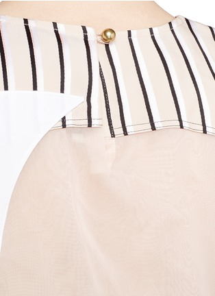 Detail View - Click To Enlarge - Acne Studios - 'Gladis' Cubist effect patchwork organza tabard top