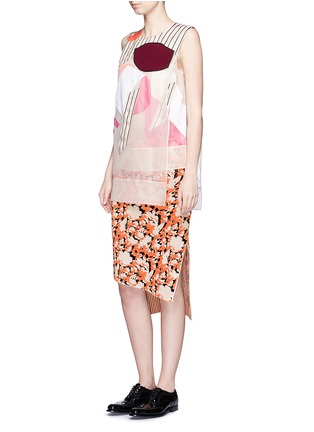 Figure View - Click To Enlarge - Acne Studios - 'Gladis' Cubist effect patchwork organza tabard top