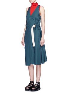 ACNE STUDIOS'Chen Pop' buckled waist poplin wrap dress