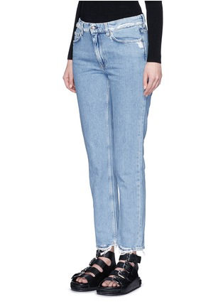 Front View - Click To Enlarge - Acne Studios - 'Boy Indigo Fray' jeans
