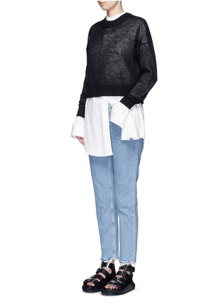 Figure View - Click To Enlarge - Acne Studios - 'Boy Indigo Fray' jeans