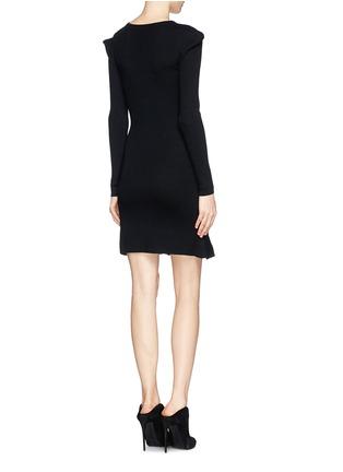 Back View - Click To Enlarge - McQ Alexander McQueen - Pixel leopard wool knit dress