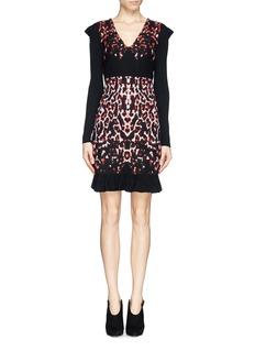 MCQ ALEXANDER MCQUEENPixel leopard wool knit dress