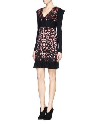 Figure View - Click To Enlarge - McQ Alexander McQueen - Pixel leopard wool knit dress