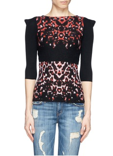 MCQ ALEXANDER MCQUEENPixel leopard wool knit sweater