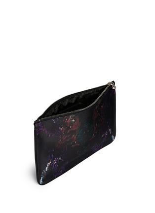 Detail View - Click To Enlarge - Alexander McQueen - Moth print silk satin pouch