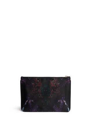 Back View - Click To Enlarge - Alexander McQueen - Moth print silk satin pouch