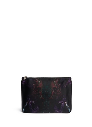 Main View - Click To Enlarge - Alexander McQueen - Moth print silk satin pouch