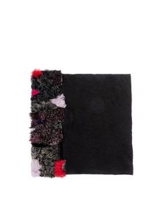 CUTULICULTFur panel modal-cashmere scarf
