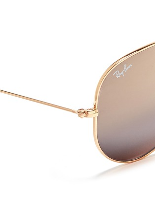 细节 - 点击放大 - RAY-BAN - 'Aviator Classic' metal mirror sunglasses