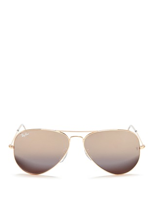 首图 - 点击放大 - RAY-BAN - 'Aviator Classic' metal mirror sunglasses