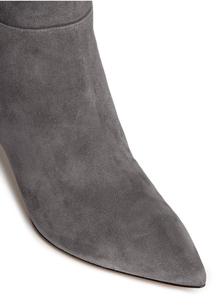 Detail View - Click To Enlarge - Gianvito Rossi - Knee high suede stiletto boots