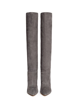 Figure View - Click To Enlarge - Gianvito Rossi - Knee high suede stiletto boots