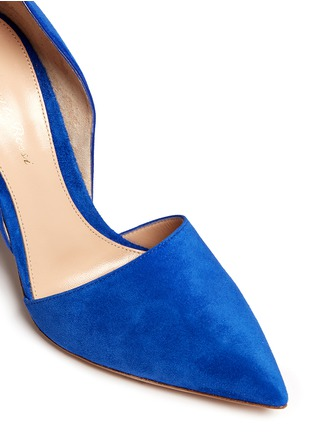 Detail View - Click To Enlarge - Gianvito Rossi - 'Lena' suede d'Orsay pumps