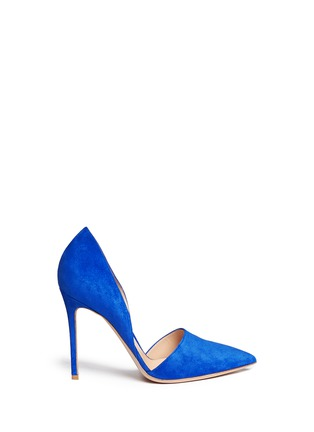Main View - Click To Enlarge - Gianvito Rossi - 'Lena' suede d'Orsay pumps