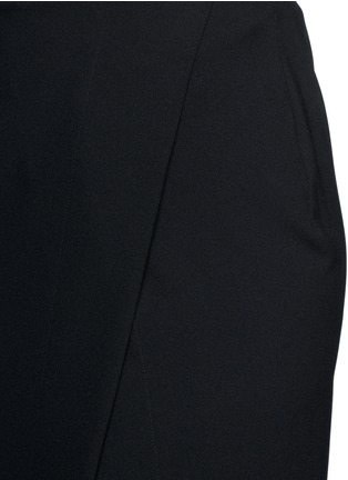 Detail View - Click To Enlarge - Ms MIN - Asymmetric mock wrap front crepe skirt
