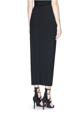 Back View - Click To Enlarge - Ms MIN - Asymmetric mock wrap front crepe skirt
