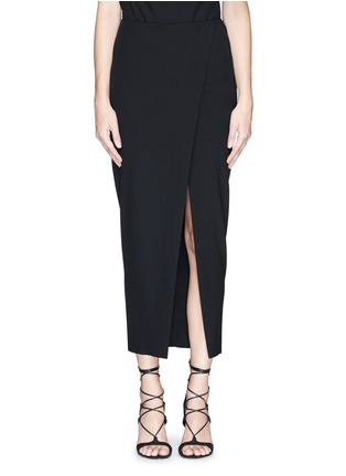 Main View - Click To Enlarge - Ms MIN - Asymmetric mock wrap front crepe skirt
