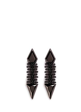 Main View - Click To Enlarge - IOSSELLIANI - Zircon pavé brass arrow clip earrings