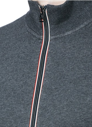 Detail View - Click To Enlarge - Moncler - Signature trim cotton jacket
