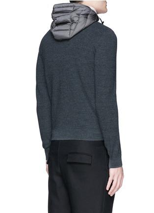 背面 - 点击放大 - MONCLER - 尼龙拼接混羊毛连帽羽绒外套