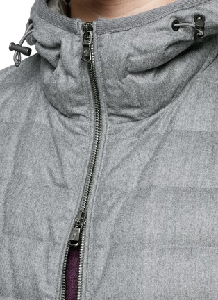 Detail View - Click To Enlarge - Moncler - 'Blanchard' quilted wool down jacket