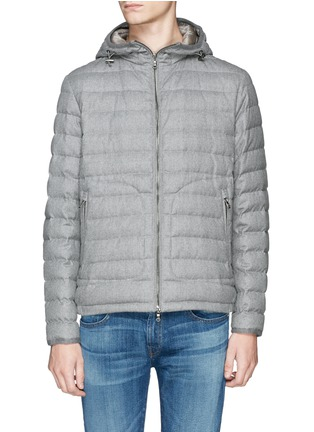 Main View - Click To Enlarge - Moncler - 'Blanchard' quilted wool down jacket