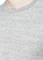 Embossed logo cotton-wool sweatshirt