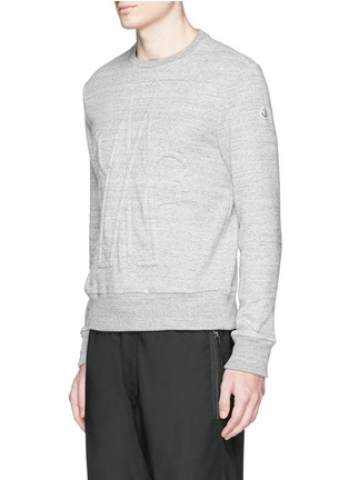 Front View - Click To Enlarge - Moncler - Embossed logo cotton-wool sweatshirt