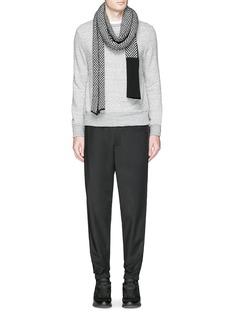 Moncler Embossed logo cotton-wool sweatshirt
