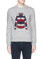 Down jacket embroidery sweatshirt
