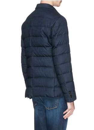 Back View - Click To Enlarge - Moncler - 'Rodin' chevron wool blend down jacket