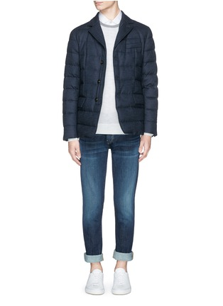 Figure View - Click To Enlarge - Moncler - 'Rodin' chevron wool blend down jacket