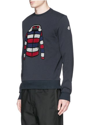Front View - Click To Enlarge - Moncler - Down jacket embroidery sweatshirt