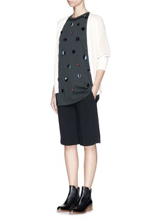 3.1 PHILLIP LIM Silk chiffon sleeve wool cardigan