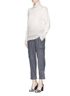 3.1 PHILLIP LIM Drop needle mohair turtleneck sweater